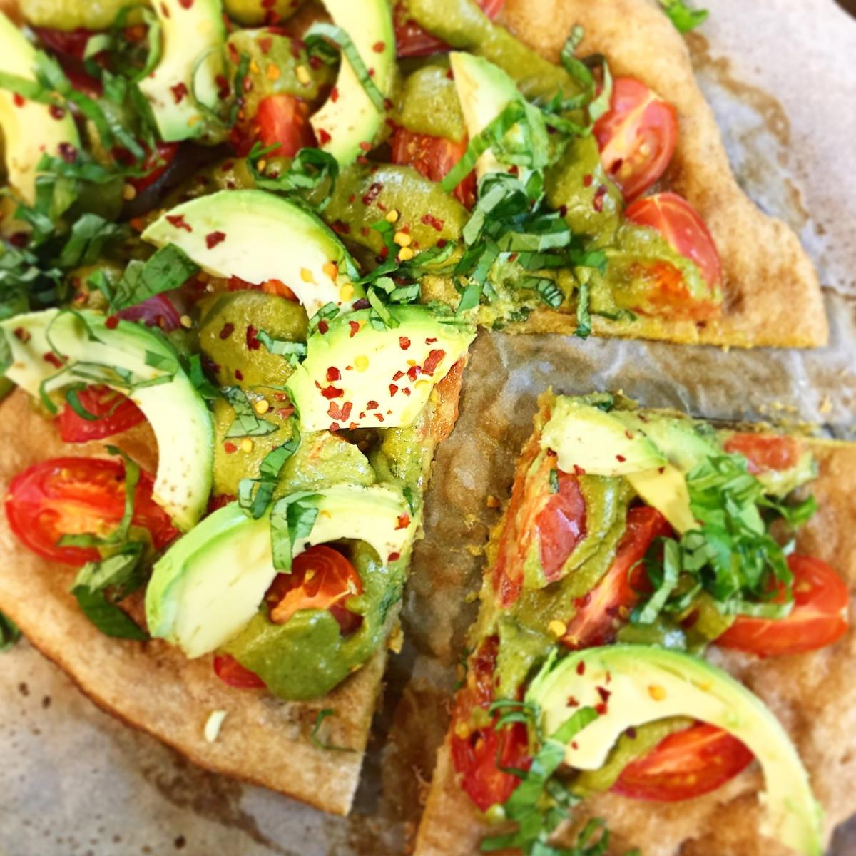 Avocado & Lemon Pesto Pizza
