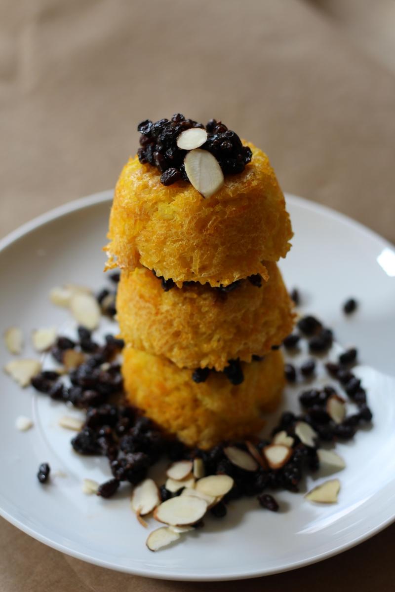 Tachin (Saffron Rice Cake) Muffins