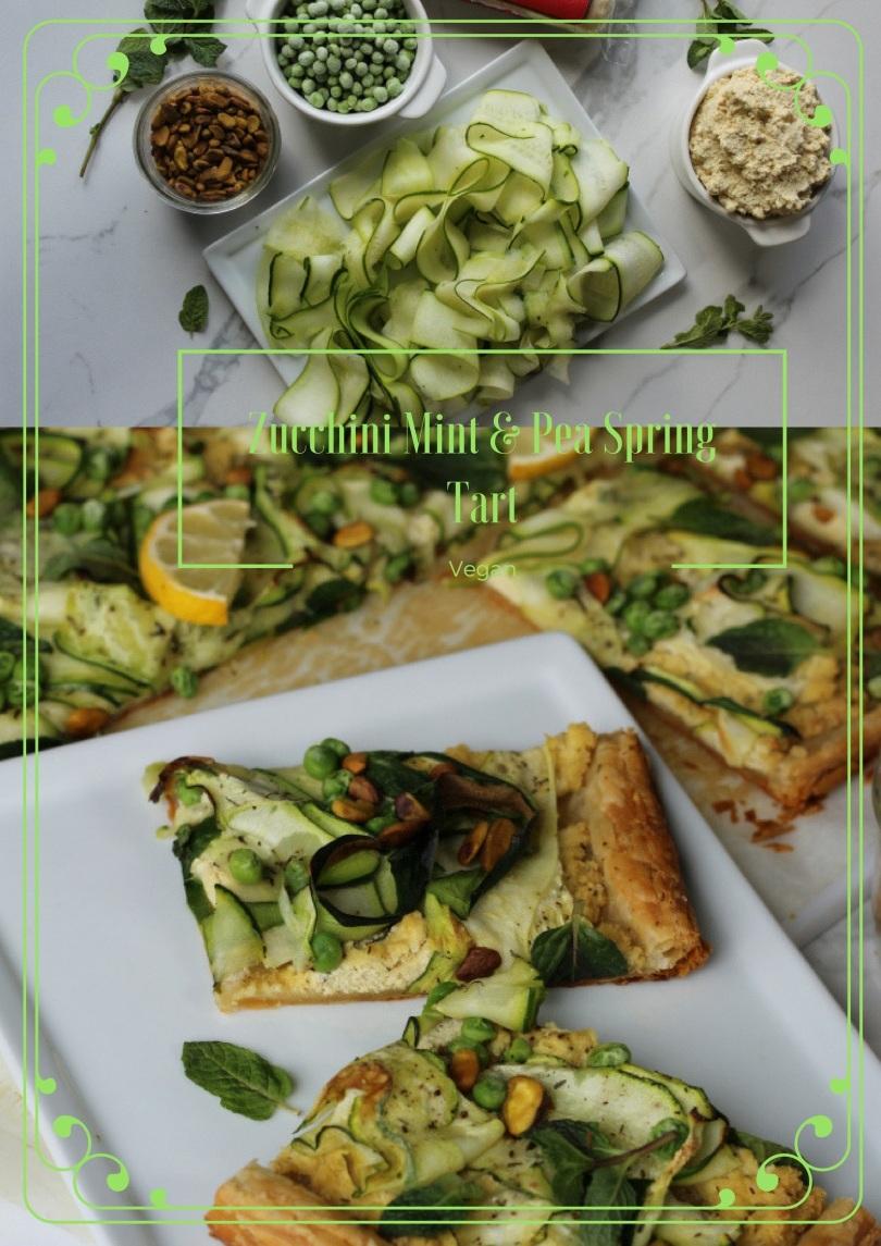 Zucchini Mint & Pea Spring Tart