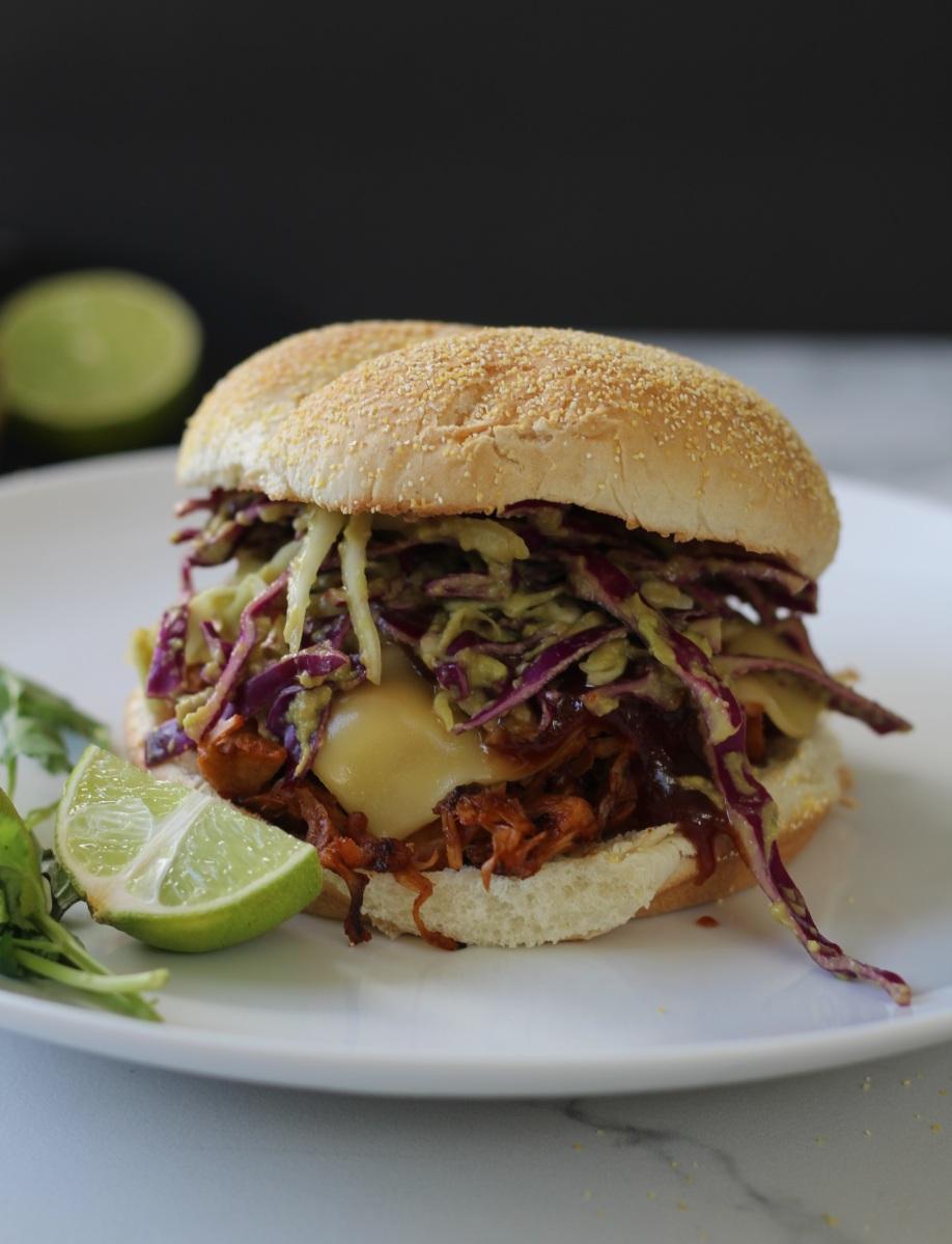 "BBQ Pulled ""Pork"" Sandwiches with Jackfruit"