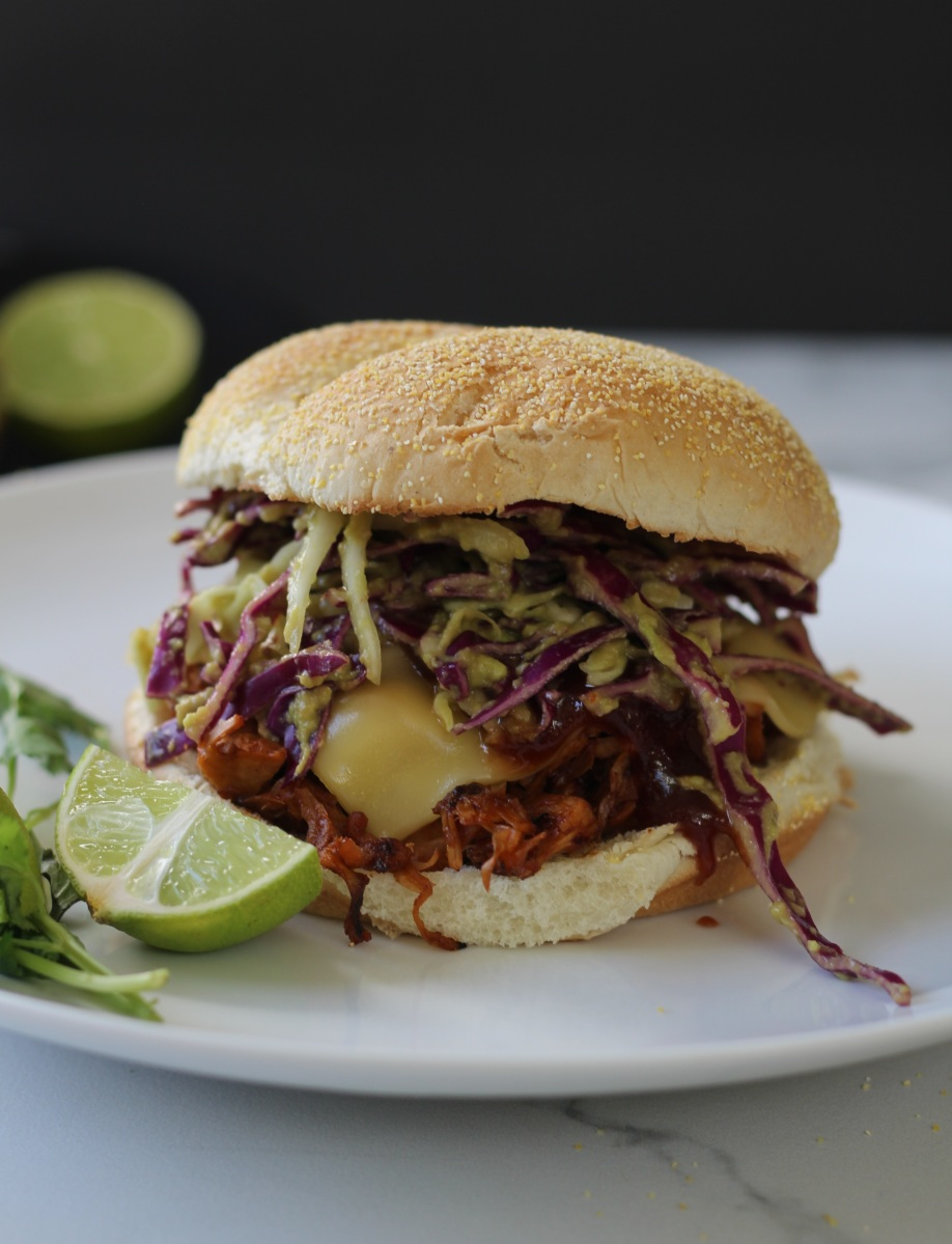 "BBQ Pulled ""Pork"" Sandwiches with Jackfruit"