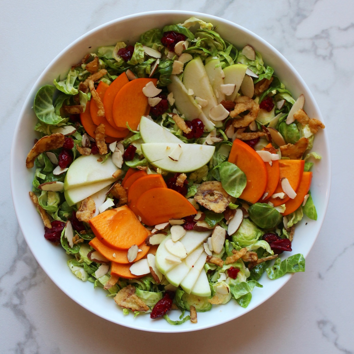 Brussels Sprouts & Persimmon Salad